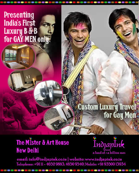 click here for Indjapink travel in India for gay men
