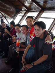 all Thai smiles the day after the parade on Utopia's Recovery Cruise on the Chao Praya river