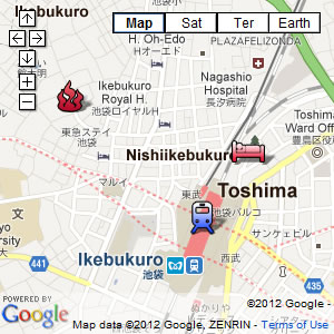 click for our interactive map of Ikebukuro