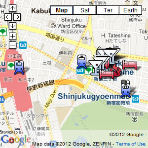 click for our interactive map of Shinjuku Ni-Chome