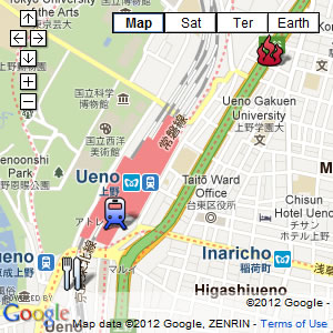 click for our interactive map of Ueno