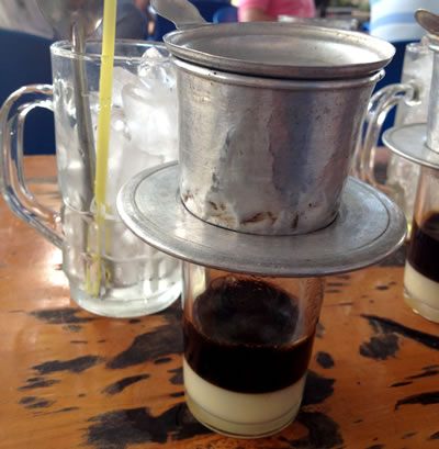 Saigon drip coffee (c) 2012 photo by John Goss